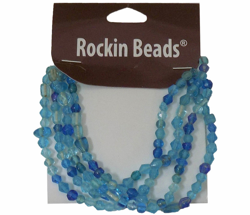 Aqua Blue  Irregular Mixed Glass Beads from India SI-26014-28874 BA783935148862