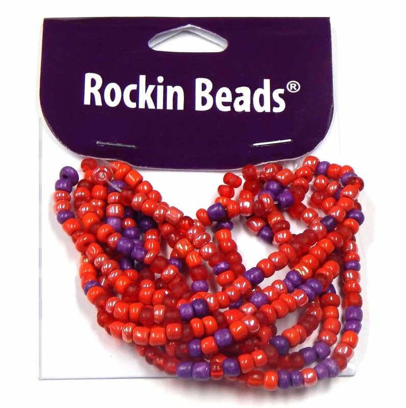 Red, Purple Irregular Mixed Seed and Bead from India SI-40568 BA783935149012