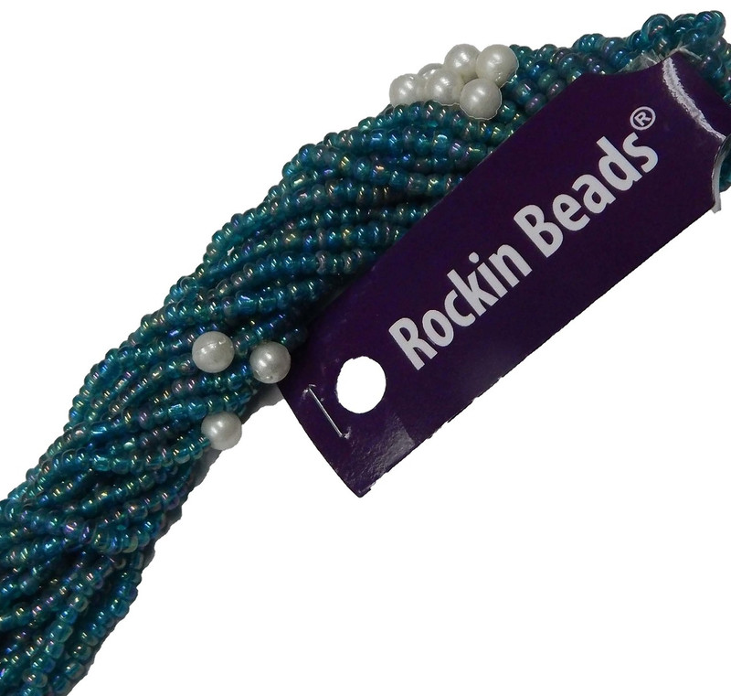 Blue Irregular Mixed Seed and Bead from India SI-41201-BB-171