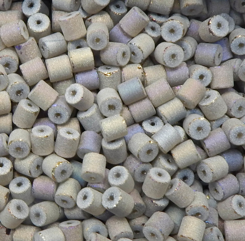 Taupe Brown AB Druzy Loose Glass Beads 7x8mm Barrel 24 Gram Pack