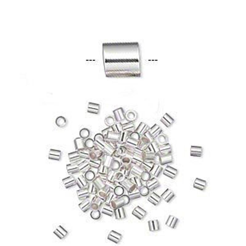 Crimp Bead Sterling Silver 2x2mm Cut Tube 1 1mm Inside Diameter 100 925 Silver 1893FD
