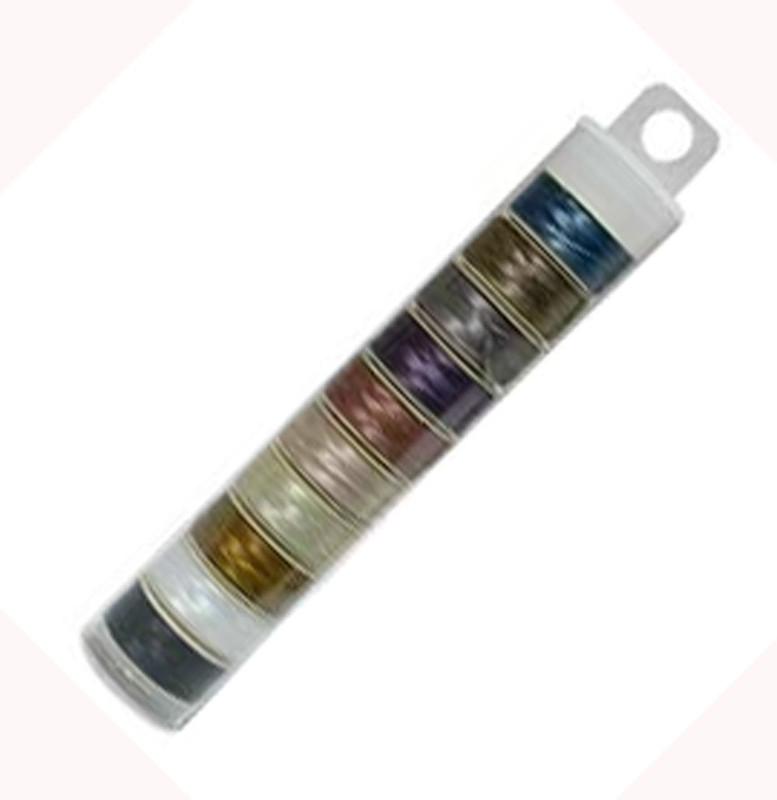 Nymo Beading Thread Bobbin Size D Bead Smith Mix 1 10 colors