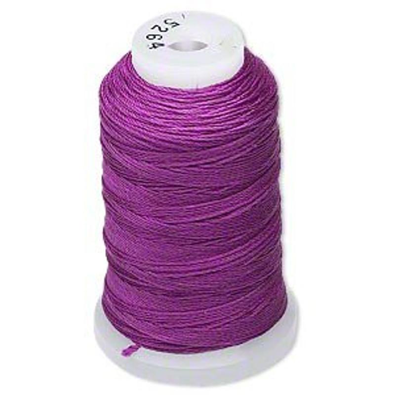 Silk Beading Thread Cord Size FF Plum 0.015 Inch 0.38mm Spool 115 Yd 5146BS