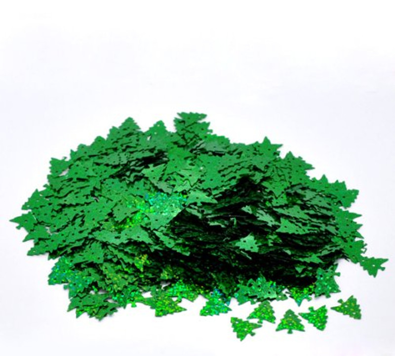 1000 Christmas Tree Green Ab Sequins for Sewing Card Making Scrapbooking Crafts 16mm
