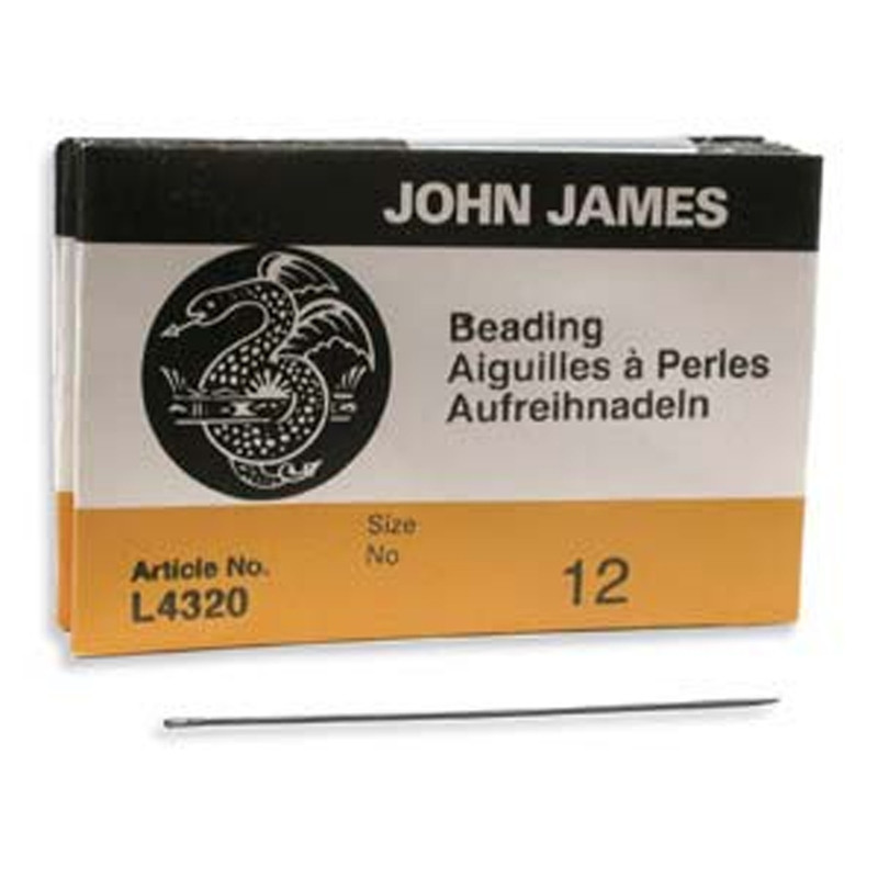 John James English Beading Needles Size 12 - Pack of 25 BN12