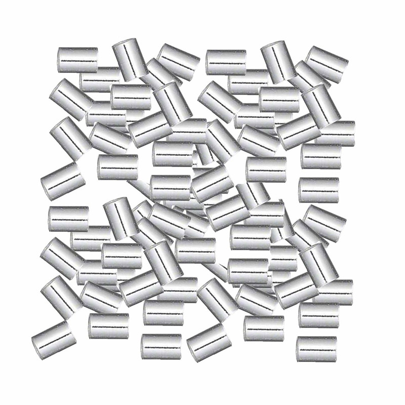 100 Crimp Bead Sterling Silver 3x2mm Cut Tube 1 3mm Inside 925 silver 1895FD