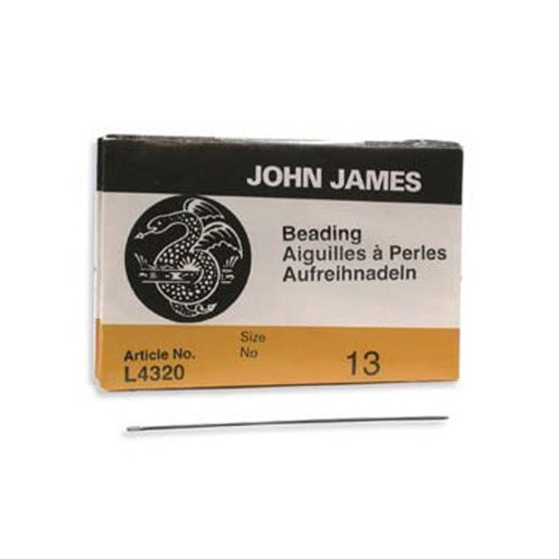 John James English Beading Needles Size 13 - Pack of 25