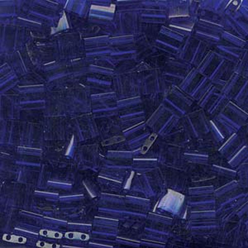 Cobalt Miyuki Tila Beads 7.2gm 2 Hole Seed Bead 5x5mm
