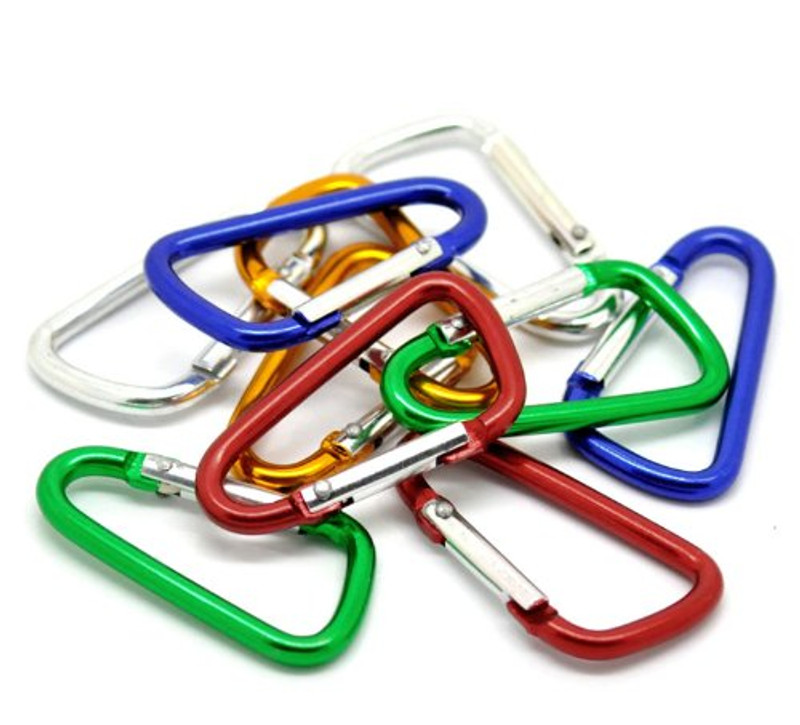 100 Mixed Colors Carabiners 1-7/8 Inch for Key Rings (Light Weight Not for Climbing)