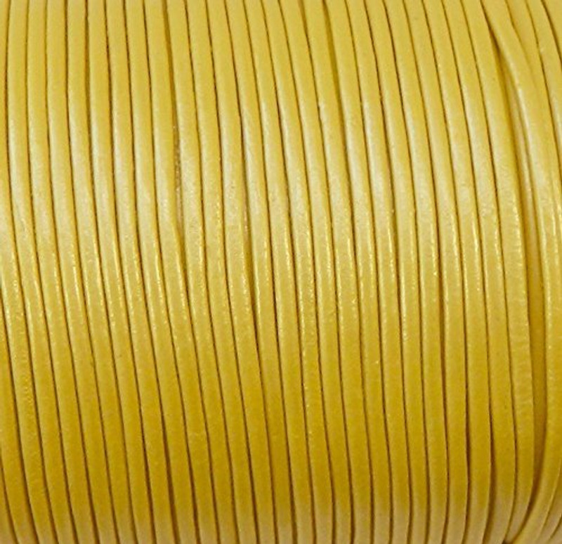 Imported India Leather Cord 2mm Round 5 Yards 5
