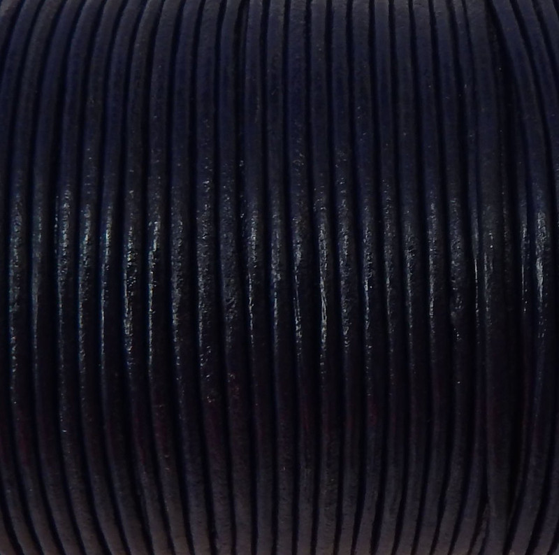 Imported India Leather Cord 2mm Round 5 Yards Blue