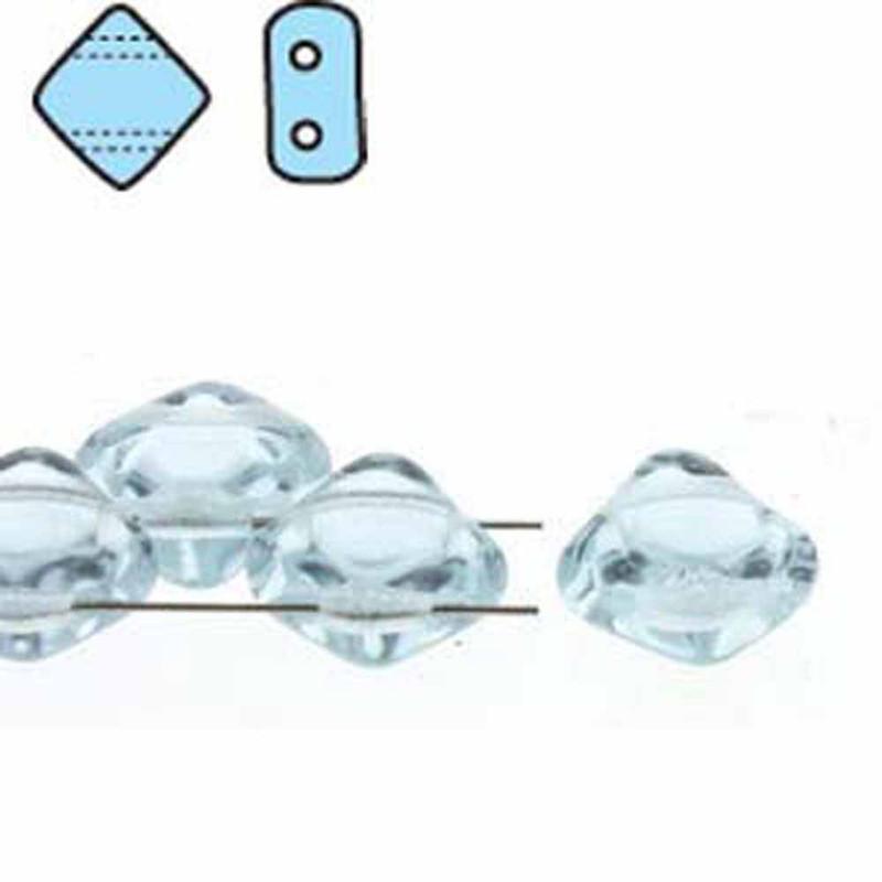 Alexandrite 6mm Diamond Glass Czech Two Hole Tile Bead 40 Beads