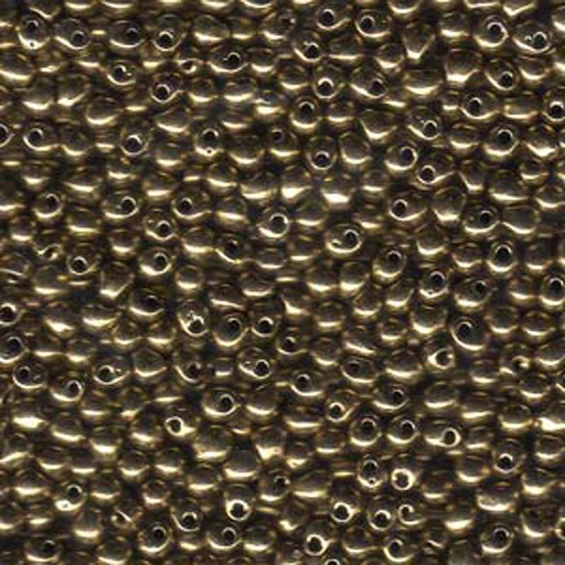 Bronze Metallic Miyuki 3.4mm Fringe Seed Bead Glass Tear Drops 25 Gram