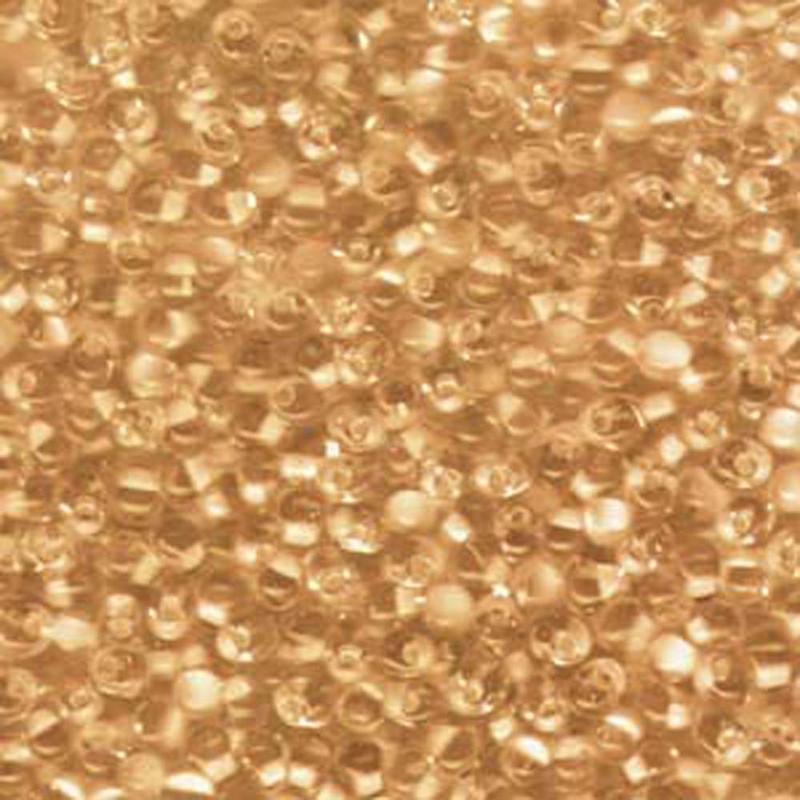 Apricot Lined Crystal Miyuki 3.4mm Fringe Seed Bead Glass Tear Drops 25 Gram