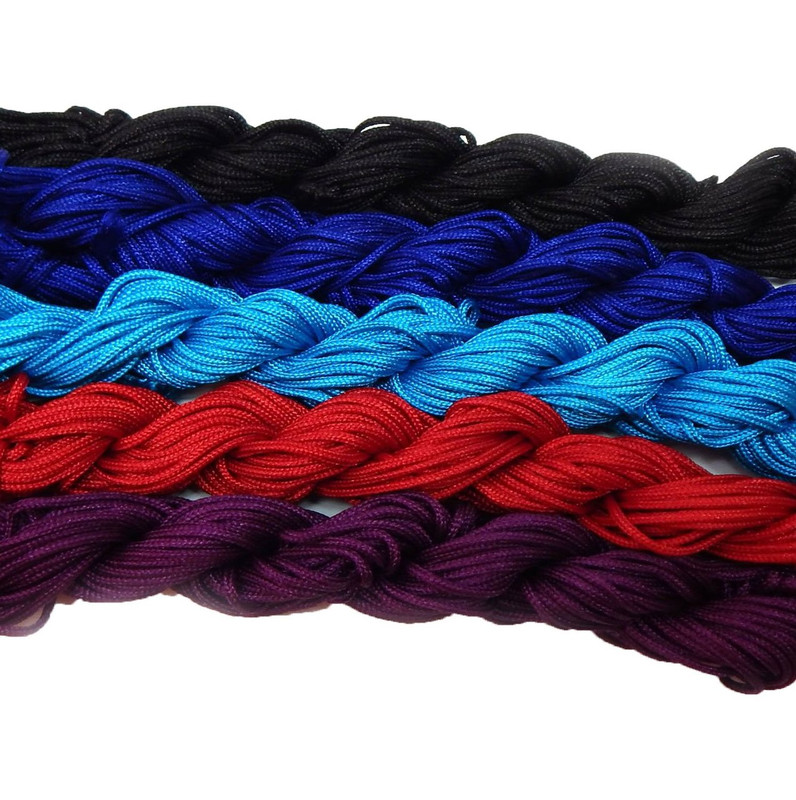Chinese Knotting Beading Cord Mixed Approx 1.5mm 5 (12 Yard Skeins) for Crafts and Knotted Jewelry Like Shamballa Bracelets 3