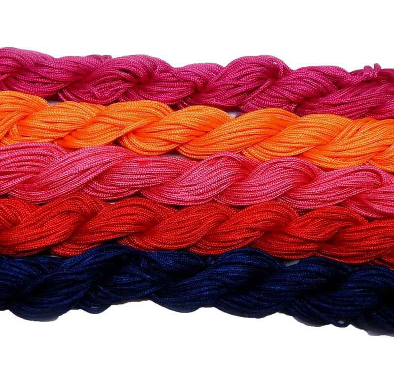 Chinese Knotting Beading Cord Mixed Approx 1.5mm 5 (12 Yard Skeins) for Crafts and Knotted Jewelry Like Shamballa Bracelets 5
