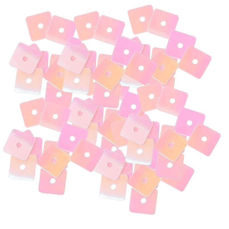 4000 Pink Square PVC Sequins for Sewing Scrapbooking Crafts 7mm