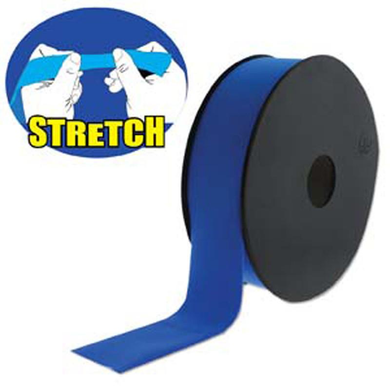 Blue 30mm Fashion Flat Stretch Cord 10 Yd Spool Jewelry Spandex