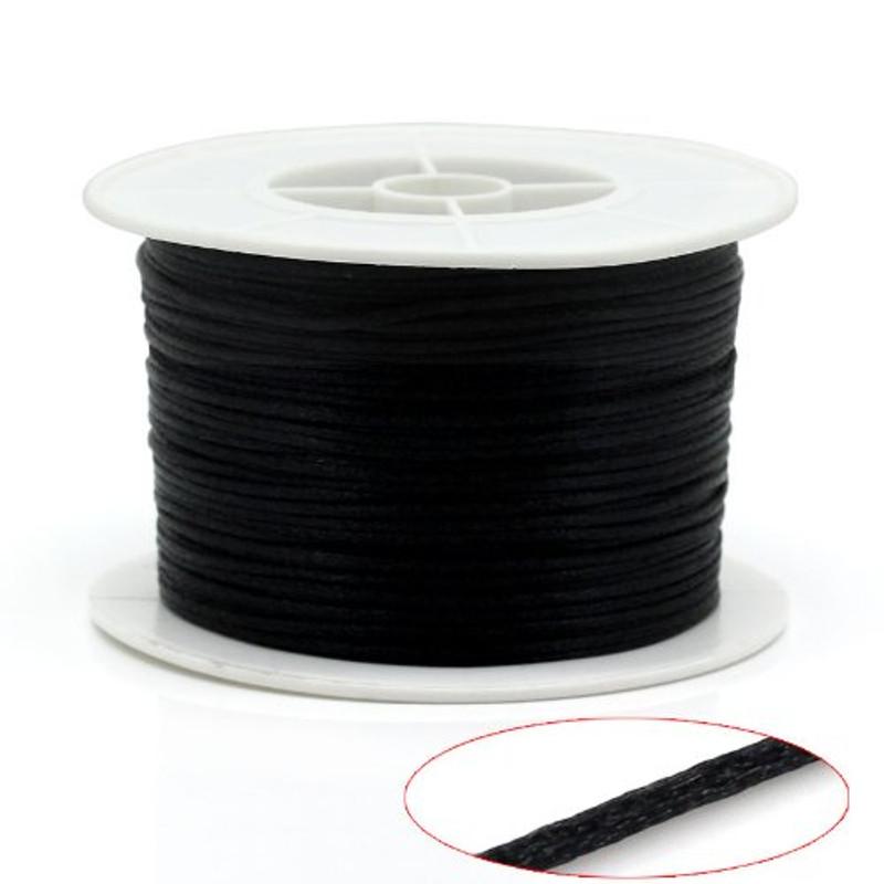 1mm Black Nylon Jewelry Macrame Craft Cord 100 Yard Spool