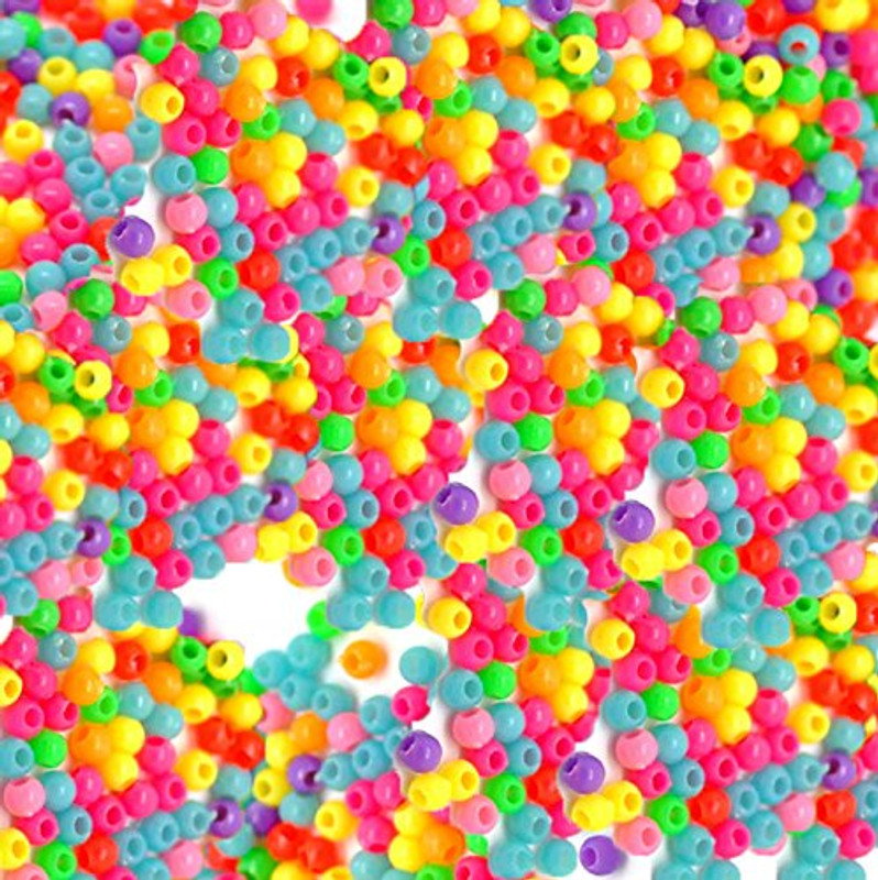 "10000 Random Acrylic Spacer Tiny Beads 3mm (1/8"")"