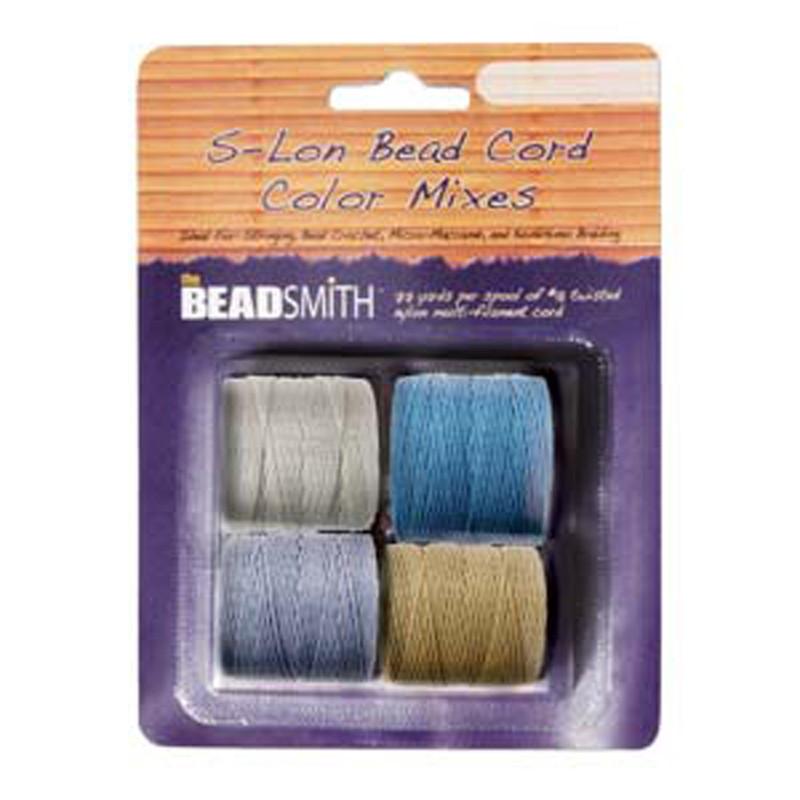 4 Spools Super-lon #18 Nylon Beading Jewelry Stringing Cord S-lon Wheatfield