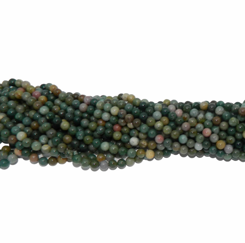 6mm Blood Agate Fancy Jasper Round Beads Gemstone Beads 15 inch B2-6d1