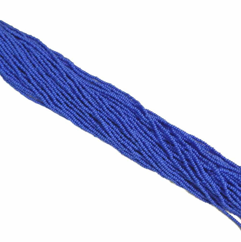 Blue Medium Opaque Czech 11/0 Glass Seed Beads 1 Full Hank Preciosa 8377SB