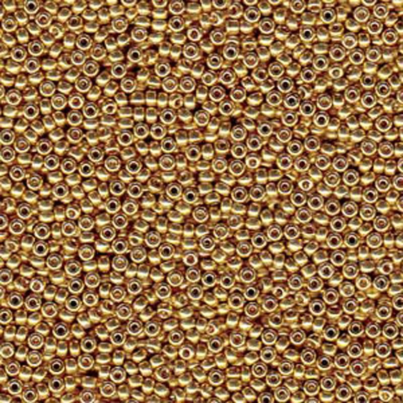 Gold 22 Grams Miyuki 8/0 Seed Bead Duracoat Galvanized 22 Gram