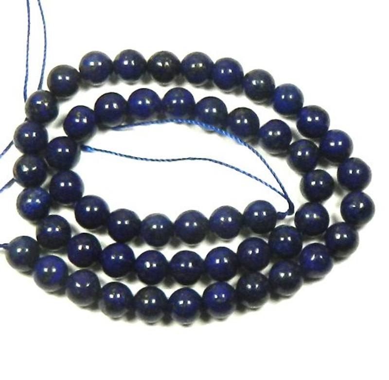 "8mm Lapis Lazuli Round Beads 40cm 15"" Stone"