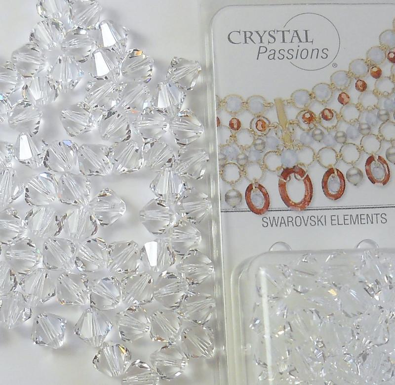 4mm Clear Swarovski Bicone Beads Xillian 144 Piece By Crystal Passions Distributor of Swarovski Elements Crystals Made in Austria Xillion Cut 5328
