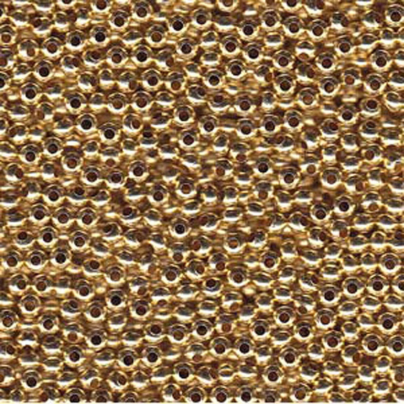 Genuine Metal Seed Beads 6/0 Gold Tone Gilding Metal 33 Grams
