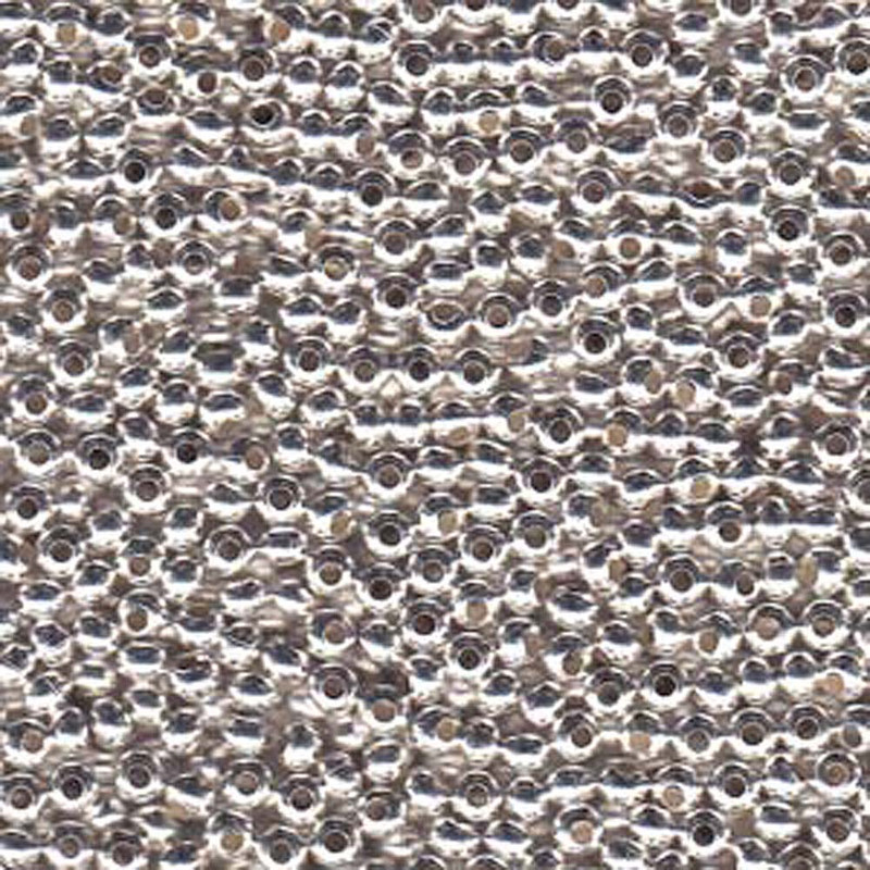Genuine Metal Seed Beads 8/0 Silver Plated 39 Grams