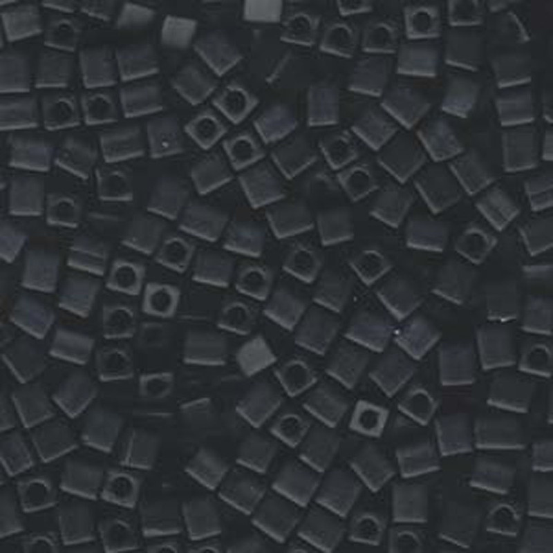 20Gr Black Opaque Matte Miyuki 4mm Square Cube Glass Seed Beads