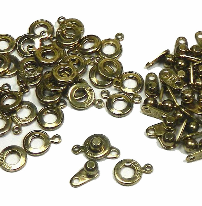 Premium Weight Ball & Socket Clasp 6mm Antiqued Gold 36 Clasps Jewelry Findings