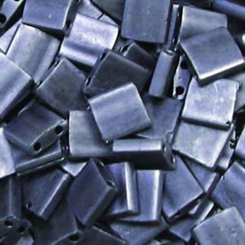 Blue Matte Miyuki Tila Beads 7.2gm 2 Hole Seed Bead 5x5mm