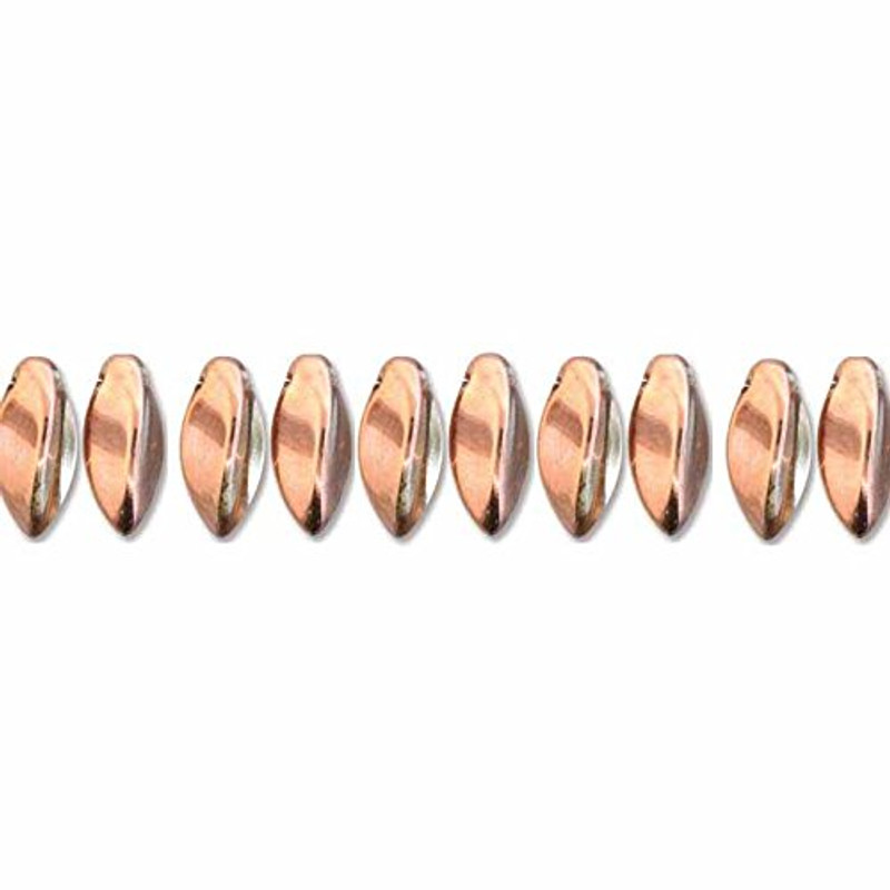 Crystal Capri Gold Czech Glass Twist Beads 6x12mm Apprx 25 bead loose strand TWST612-C27101