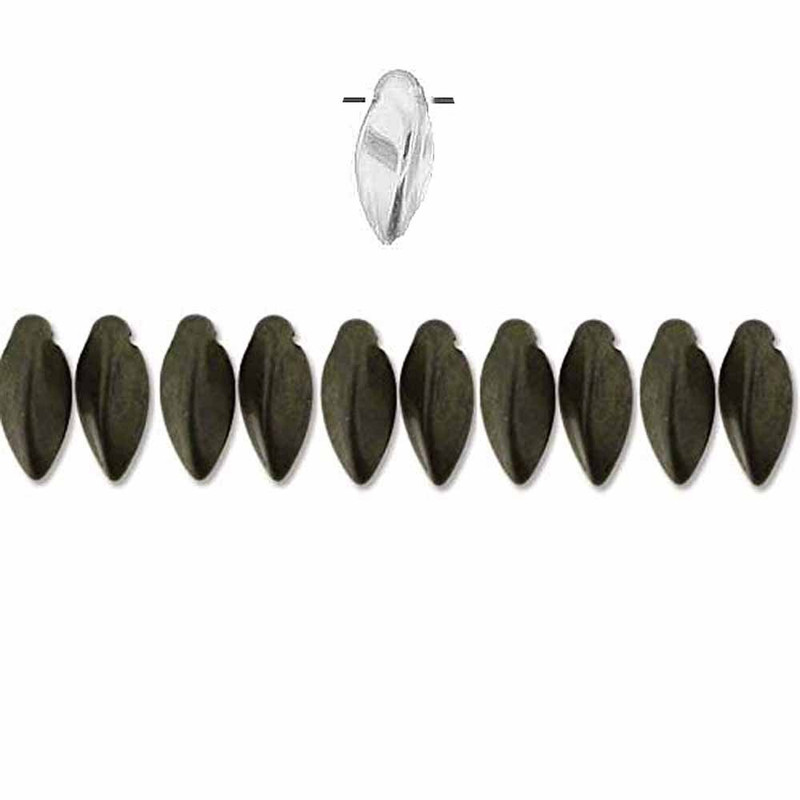 Jet Matte Red Luster Czech Glass Twist Beads 6x12mm Apprx 25 bead loose strand