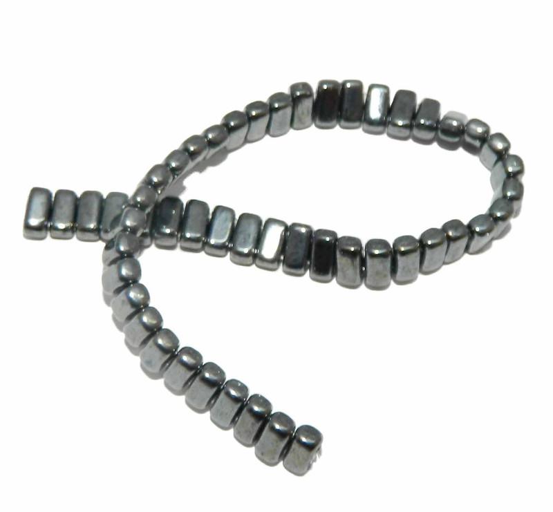 Hemitite Brick 3x6mm Square Glass Czech Two Hole 50 Tile Beads