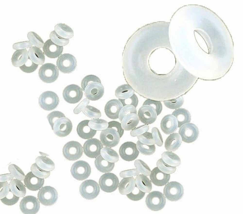 500 Stop Beads Inserts Silicone Rubber Donut Spacers Fits European Charm Bracelets Clip