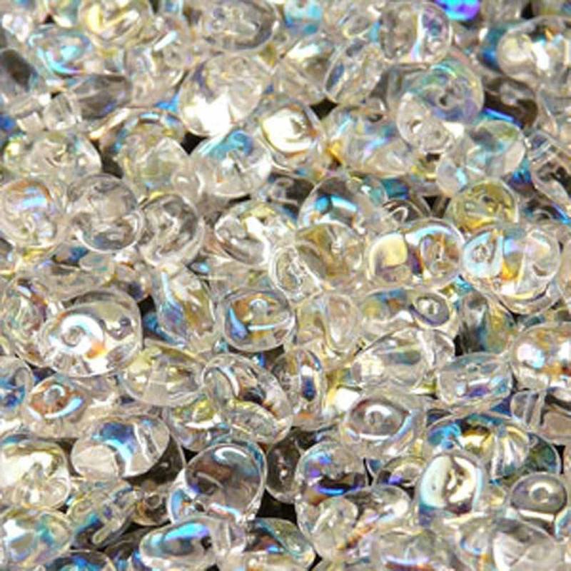 Crystal AB 2.5x5mm 1 ONE Hole Fringe Czech Glass Seed Beads 20gr