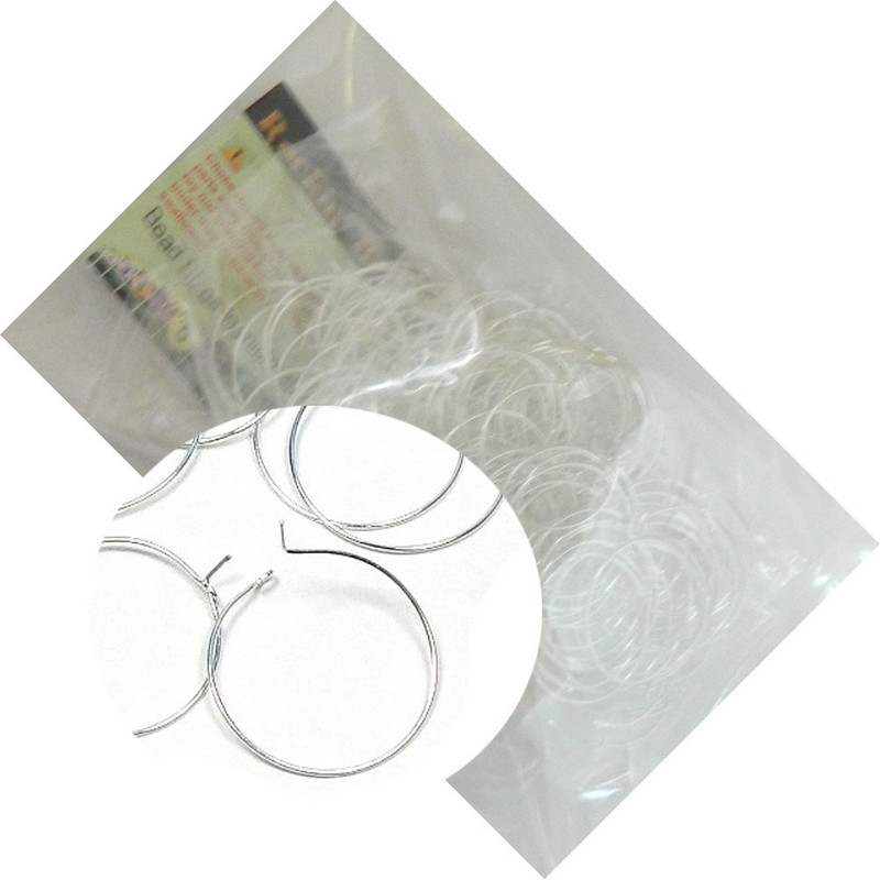 200 Silver-plated Brass 25mm Beading Hoop Beaded Wine Glass Charms Wire Z-H206732FD