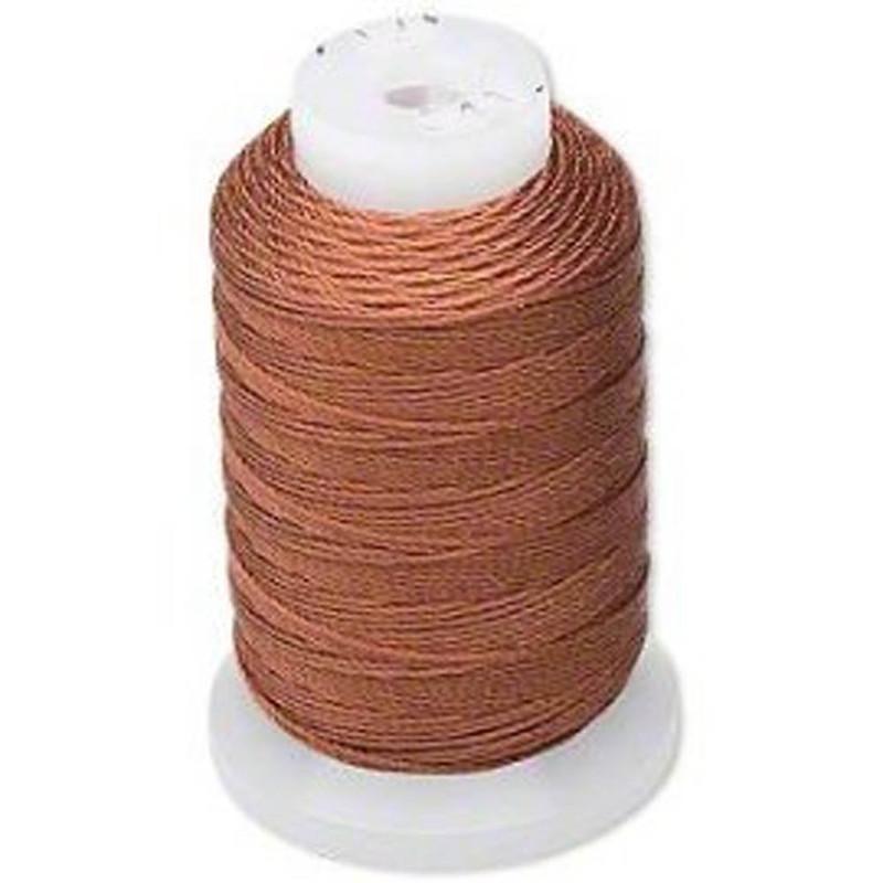 Silk Beading Thread Cord Size FF Brown 0.015 Inch 0.38mm Spool 115 Yd