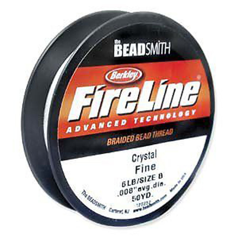 "FireLine Braided Bead Thread .008"" Crystal Clear …"