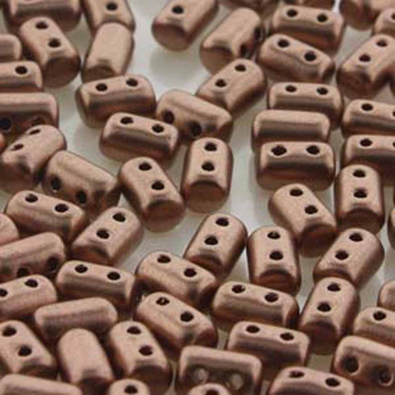 Rulla CRYSTAL BRONZE COPPER Czech Glass 2-hole Seed Beads 3x5mm 22 Grams