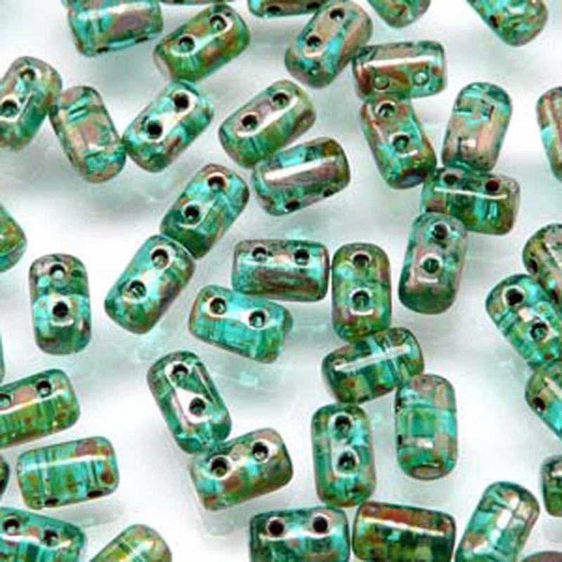 Rulla AQUA PICASSO Czech Glass Seed Beads 3x5mm 20 Gram Tube (2 Hole)