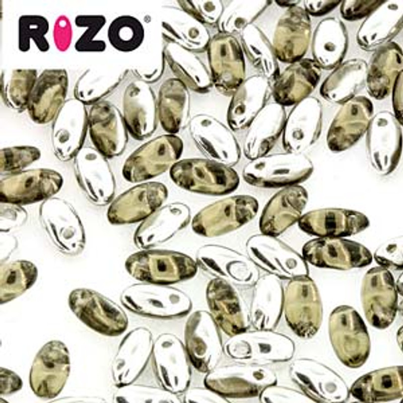 Black Diamond Larador 2.5x6mm Rizo Beads Czech Glass Seed Beads 22 Gram Tube