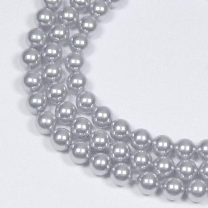 "100 Swarovski Crystal Pearls 4mm Round Beads 5810. 16"" Loose Strand Lavender 581004LAV"