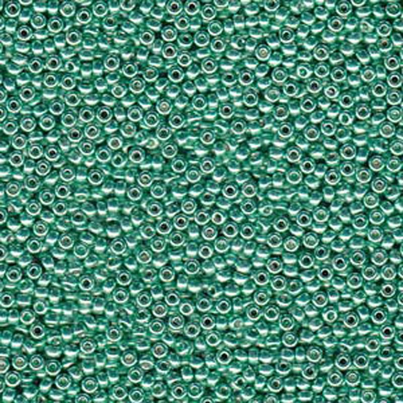 Dark Mint Green 20 Grams Miyuki 6/0 Seed Bead Duracoat Galvanized 22 Gram