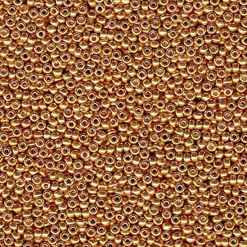 Yellow Gold 20 Grams Miyuki 6/0 Seed Bead Duracoat Galvanized 20 Gram