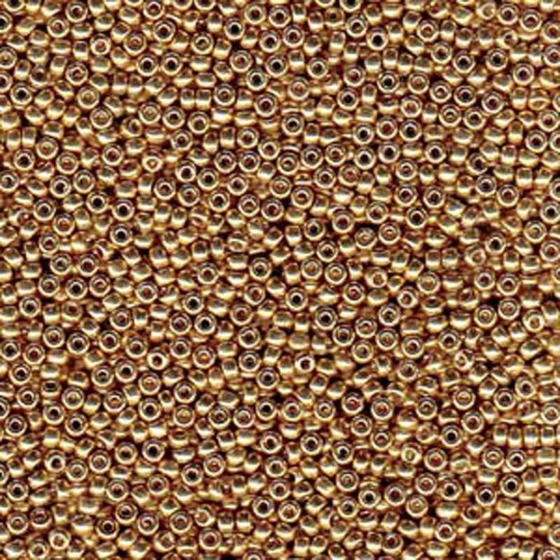 Champagne 20 Grams Miyuki 6/0 Seed Bead Duracoat Galvanized 20 Gram
